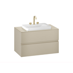 ARMANI - BAIA 1000 mm wall-hung furniture for deck-mounted basin mixers and over countertop washbasins