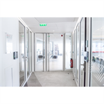 aluminium double fire door - with transom and sidelight