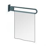 cavere shower guard rail vario, suspendable, l = 850, with base plate