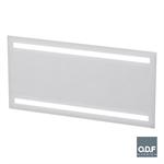led leuchtspiegel mit 2 horizontalen lichtbanden und beschlagschutz 140 x 70cm