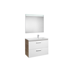 PRISMA 900 Pack (base unit with two drawers, right hand basin and LED mirror)