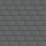 großraute dach (600 mm x 1500 mm, horizontal, prepatina schiefergrau)