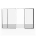 Bloc porte vitrée pour cloison aluminium démontable