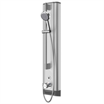 f5e therm stainless steel shower panel with hand shower fitting f5et2021