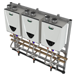 Commercial Tankless Rack Systems Wall Mount