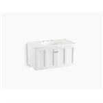 "damask® 36"" wall-hung bathroom vanity cabinet with 2 doors"