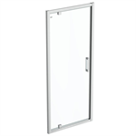 connect 2 pivot door  90 clear glass bright silver finish