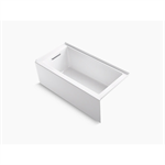 """underscore® 60"""" x 30"""" alcove bath with integral apron, integral flange, and left-hand drain"""