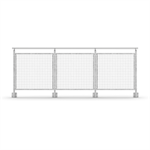 Sectional Railing Mesh Side mounted