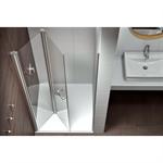 Plus Evolution Giro - Frontal 2 puertas  plegables y deslizantes para ducha