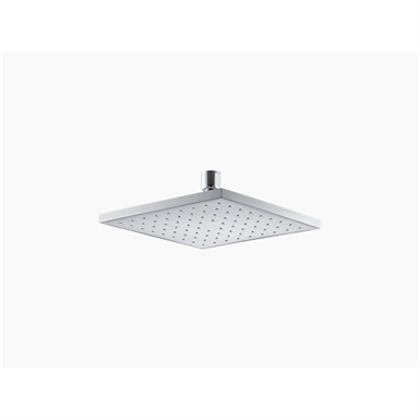 """8"""" contemporary square 2.5 gpm rainhead with katalyst® air-induction technology"""