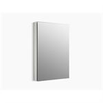 "catalan® 24-1/8"" w x 36-1/8"" h aluminum single-door medicine cabinet with 170 degree hinge"