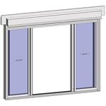 sliding window 2 rails 4 leaves with shutter