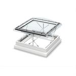 Smoke & comfort ventilation - flat roof window w. dome
