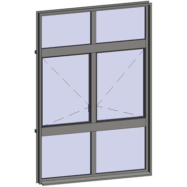 multi-paned windows - 6 compound zones