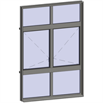 multi-paned windows - 6 compound zones