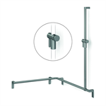 Cavere Shower handrail with shower head rail, movable 1050x750x1200, right