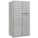 3700 Series Recessed Mounted 4C Horizontal Mailboxes - Rear Loading - 15 Door High Units