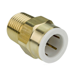 "Polybutylene Push-Fit Male Iron Adaptor Brass - 15mm x 1/2"", 22mm x 3/4"" & 28mm x 1"" - 36073, 36074 , 36075"