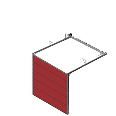 Sectional overhead door 601 - low lift - 80mm panels