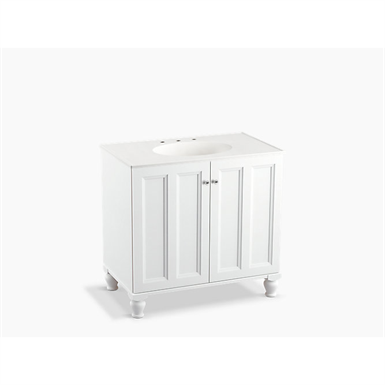 "Damask® 36"" bathroom vanity cabinet with furniture legs and 2 doors"