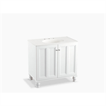 """damask® 36"""" bathroom vanity cabinet with furniture legs and 2 doors"""