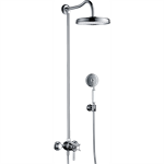 AXOR Montreux Showerpipe with thermostat and overhead shower 1jet 16570000