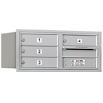 3700 Series Recessed Mounted 4C Horizontal Mailboxes - Rear Loading - 3 Door High Units