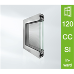 Schüco Window AWS 120 CC.SI, Inward opening