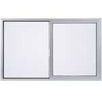 "Standard Aluminum Horizontal Slider Window, 2' 0"" to 6' 0"" Window Width, 1' 0"" to 6' 0"" Window Height"