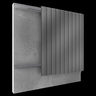 Steel built up cladding vertical position