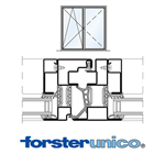 Window Forster unico, frame 30 mm, double leaf