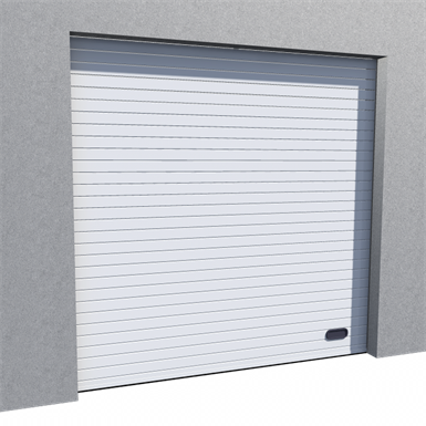 industrial grooved door ral 9010 normal lift in slope