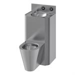71712 presto combination unit washbasin and central wc - rear installation lvl0