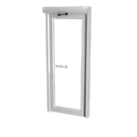 Space saving single swing door - Balance door system