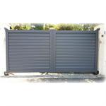 portail pivotant aluminium collectif