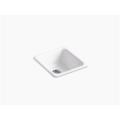 "iron/tones® 17"" x 18-3/4"" x 8-1/4"" top-/under-mount single-bowl kitchen sink"