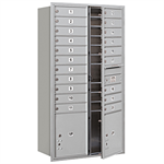 3700 Series Recessed Mounted 4C Horizontal Mailboxes - Front Loading - Maximum Height Units