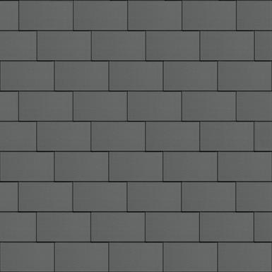 flat-lock tile roof (500 mm x 1000 mm, horizontal, prepatina graphite-grey)