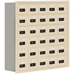 19000 Series Cell Phone Lockers-Recessed Mounted-6 Door High Units-8 Inch Deep Compartments
