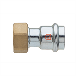 Straight tap connector F x G thread - C-Steel press fitting - V profile - FRABOPRESS C-STEEL SECURFRABO