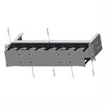 EDGE Horizontal Jumper Manager, 2 Rack Units