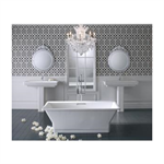 k-819-f62 rêve® 5.5' freestanding bath with brilliant blanc base