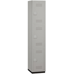 15-43000 Series Heavy Duty Plastic Lockers - Triple Tier - 1 Wide