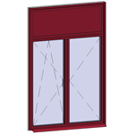 window opening inside with transom