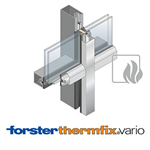 curtain wall forster thermfix vario security