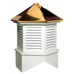 Estate Series Louvered Cupola Is A Hexagon With A Hip Style Roof