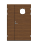 Exterior Door Function F2090 W68+AL1200 Veneered Double Unequal