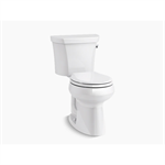 highline® comfort height® two-piece round-front 1.28 gpf chair height toilet with right-hand trip lever and insulated tank