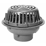 "Z121 12"" Diameter Roof Drain, Low Silhouette Dome"